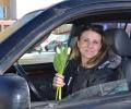 Сотрудники ГИБДД Зеленограда поздравили автоледи с 8 Марта