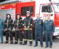 Три человека спасены при тушении пожара в 18-м микрорайоне
